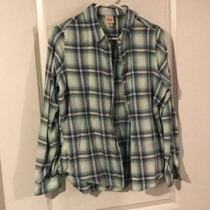 Light green & grey plaid shirt